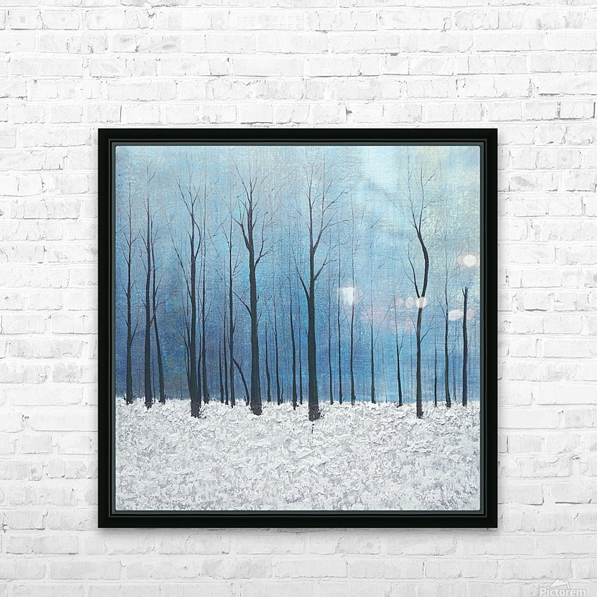 winter scenery HD Sublimation Metal print with Decorating Float Frame (BOX)