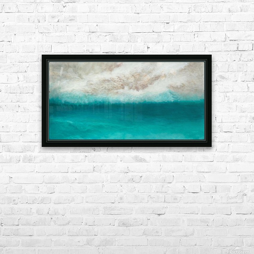 Morning Sea HD Sublimation Metal print with Decorating Float Frame (BOX)