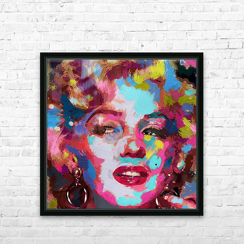 MarilynMonroe HD Sublimation Metal print with Decorating Float Frame (BOX)