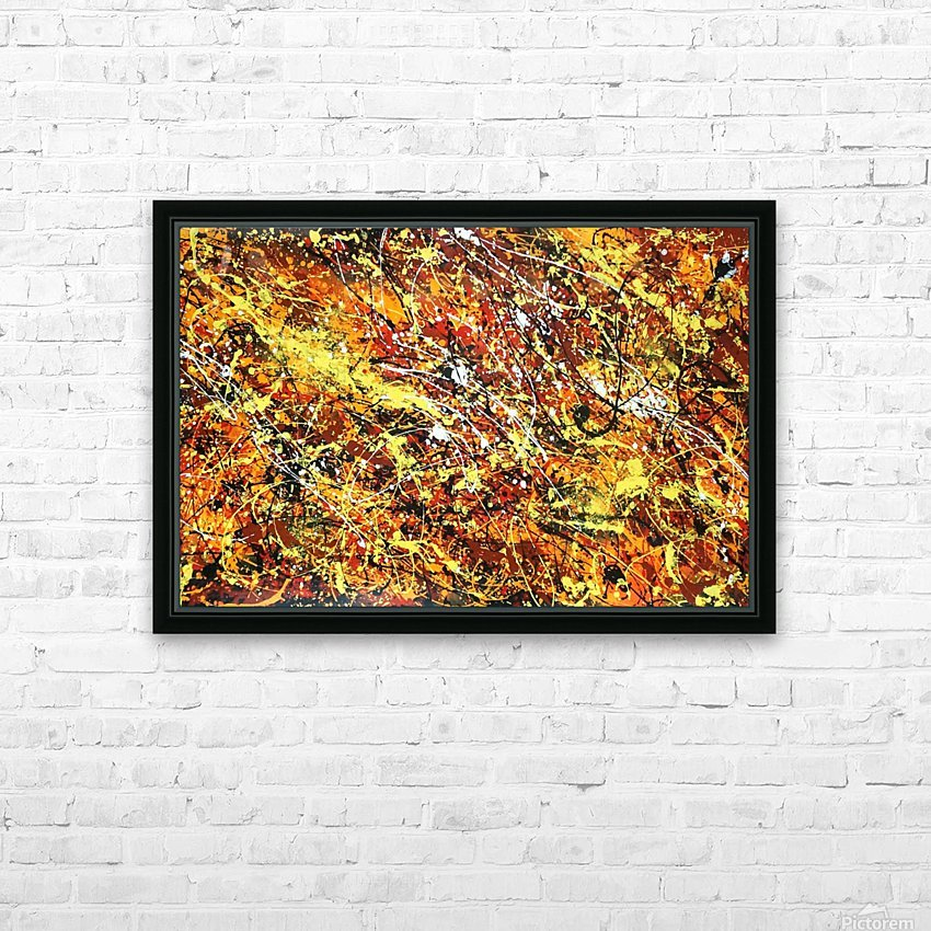 yellowy HD Sublimation Metal print with Decorating Float Frame (BOX)