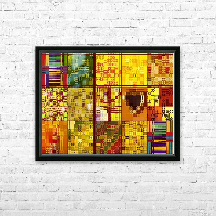 YELLOW COLLAGE HD Sublimation Metal print with Decorating Float Frame (BOX)