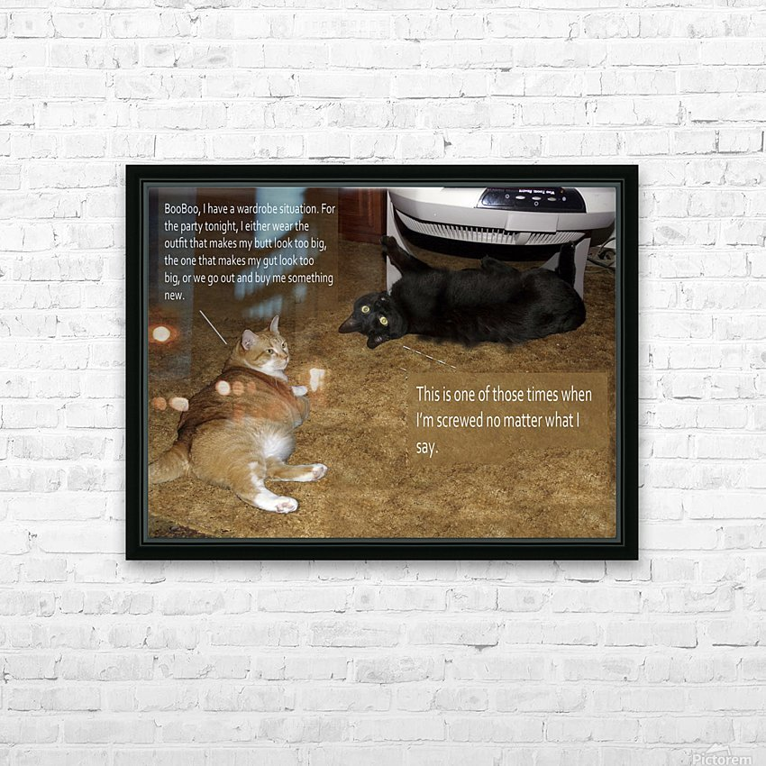 BooBoo&Goldie2 HD Sublimation Metal print with Decorating Float Frame (BOX)