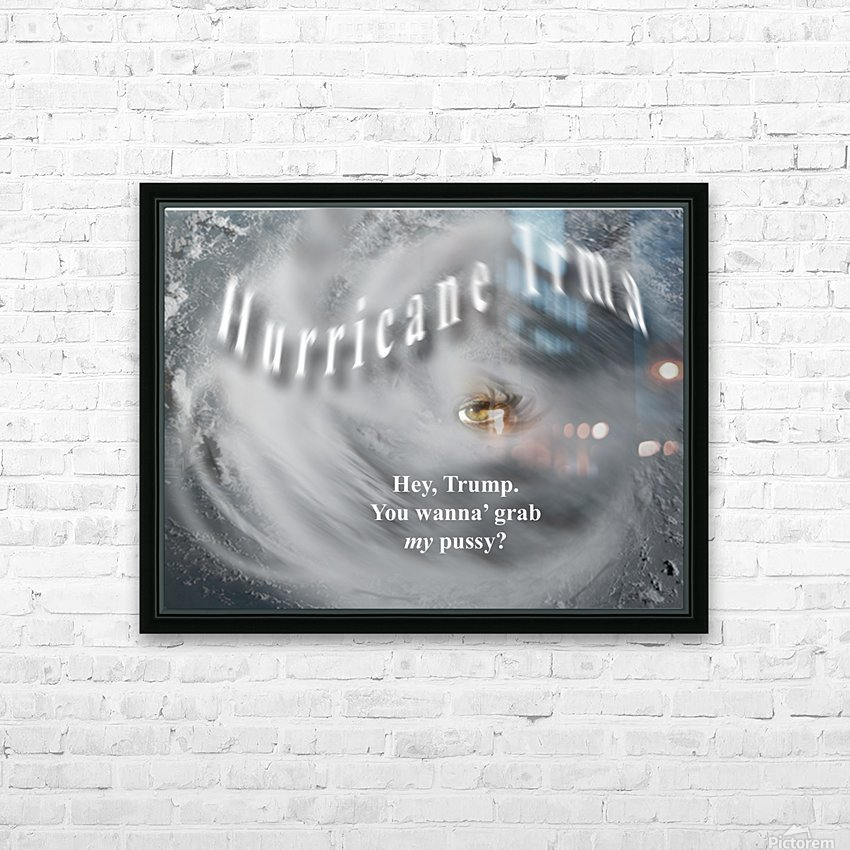 HurricaneIrma HD sublimation métal imprimé avec décoration flotteur cadre (boîte)
