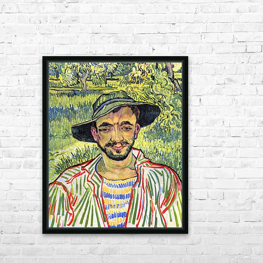 Young Farmer -1- by Van Gogh HD Sublimation Metal print with Decorating Float Frame (BOX)
