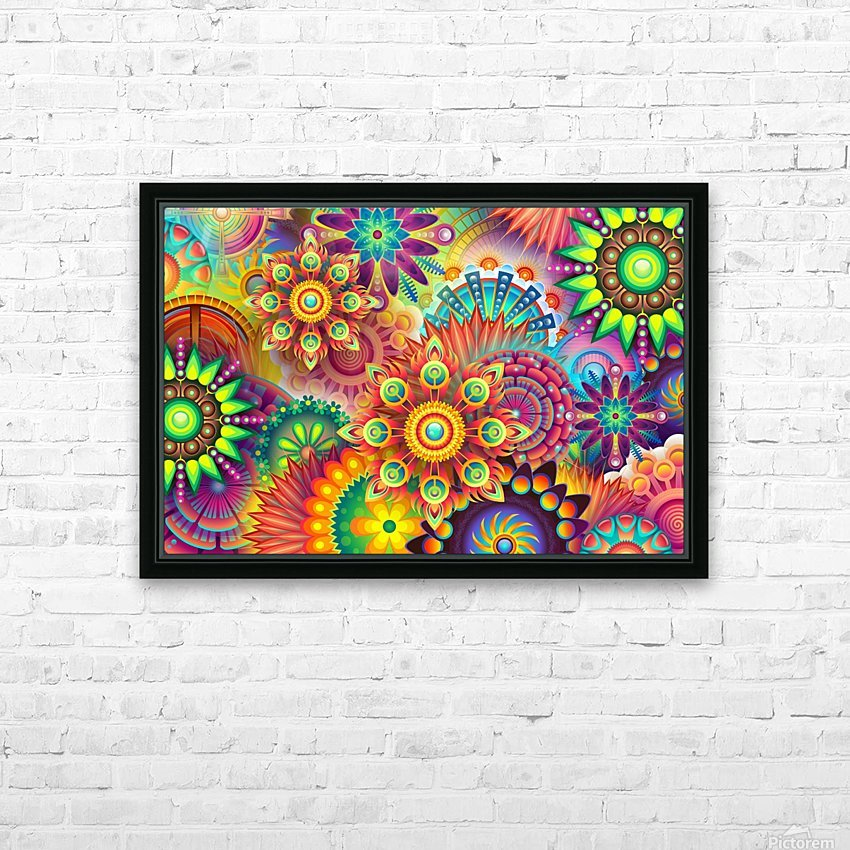 Wheels HD Sublimation Metal print with Decorating Float Frame (BOX)