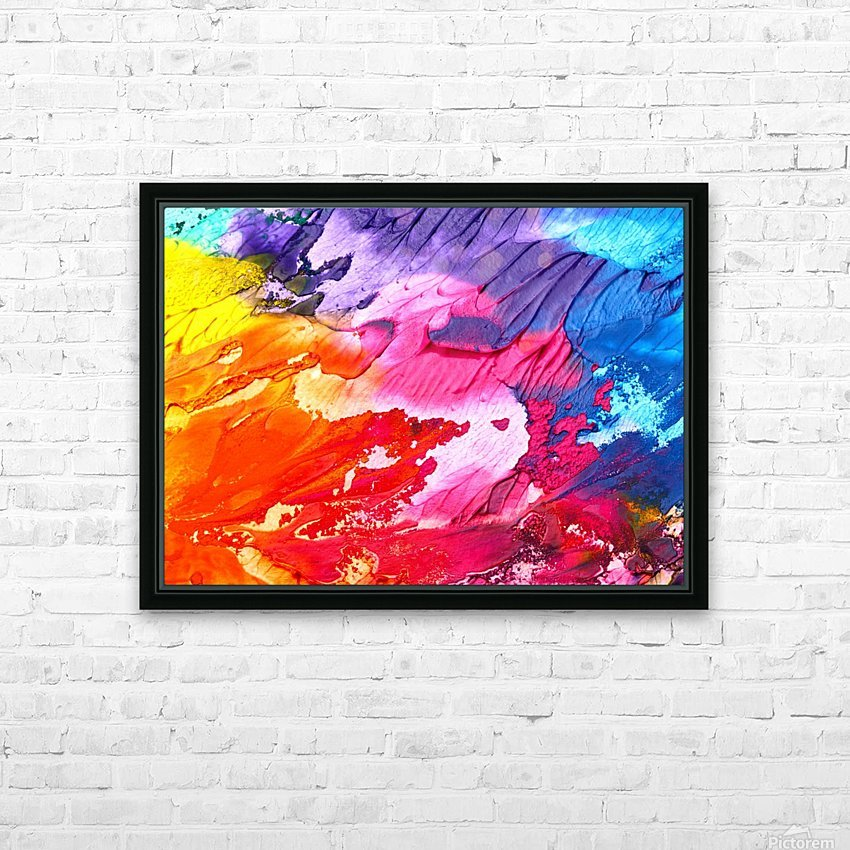 Waves Of Colors HD Sublimation Metal print with Decorating Float Frame (BOX)