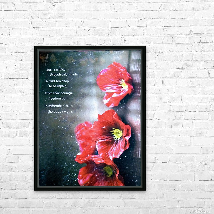Never Forget HD Sublimation Metal print with Decorating Float Frame (BOX)