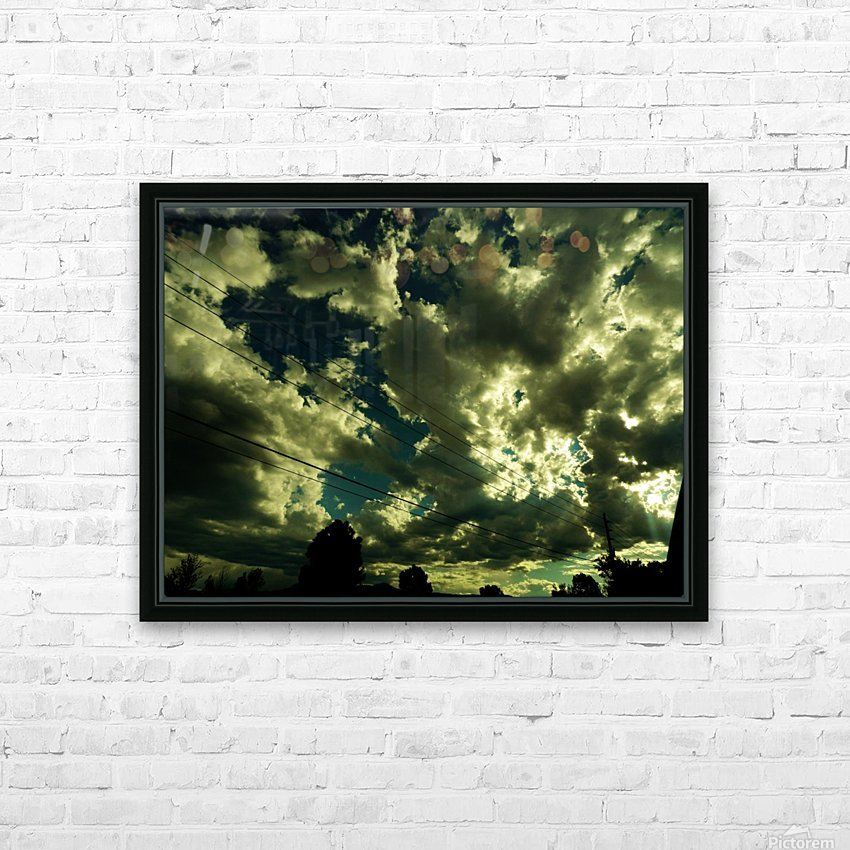 B (1) HD Sublimation Metal print with Decorating Float Frame (BOX)