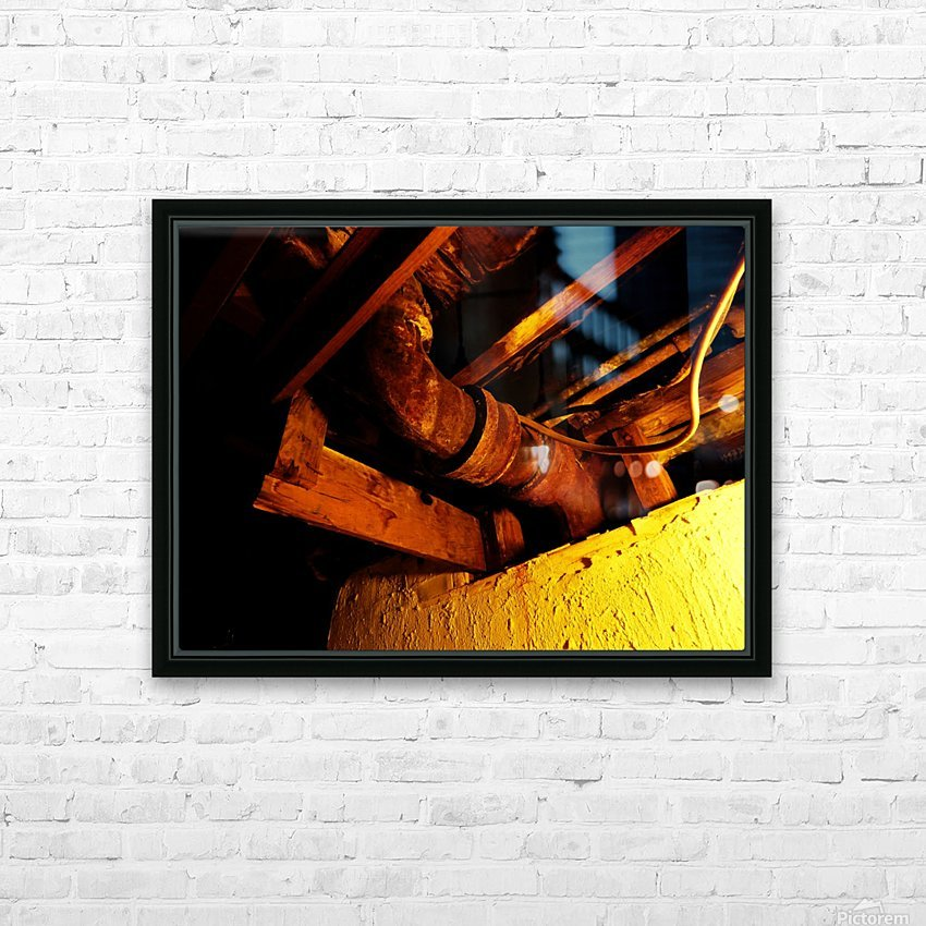 H (1) HD Sublimation Metal print with Decorating Float Frame (BOX)