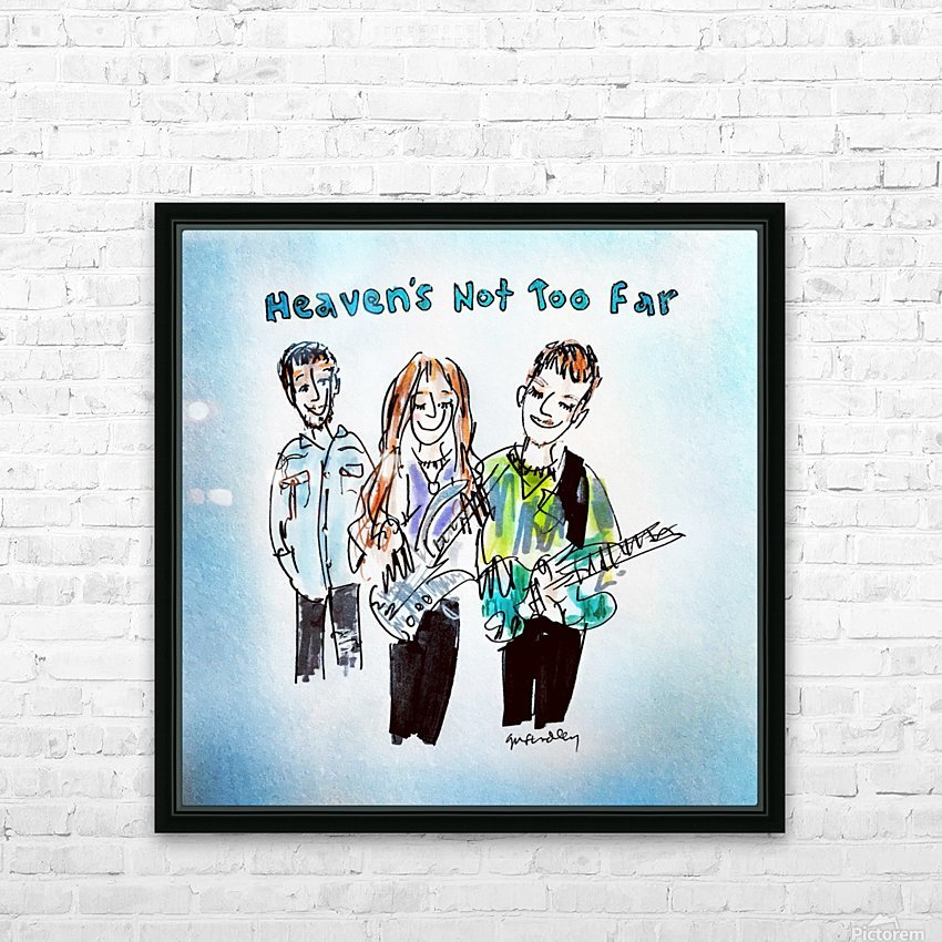 We Three - AGT 2018 HD Sublimation Metal print with Decorating Float Frame (BOX)