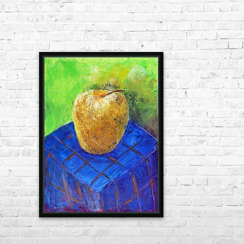 08.APPLE2014year oil on canvas 30X40 cm1500$ HD Sublimation Metal print with Decorating Float Frame (BOX)