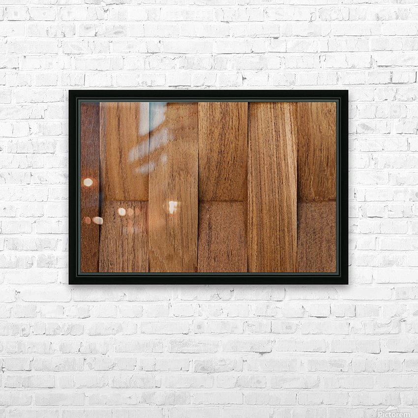 Brown Wood Surface HD Sublimation Metal print with Decorating Float Frame (BOX)