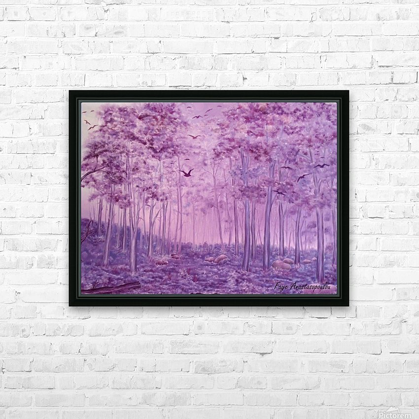 Purple Woods HD Sublimation Metal print with Decorating Float Frame (BOX)