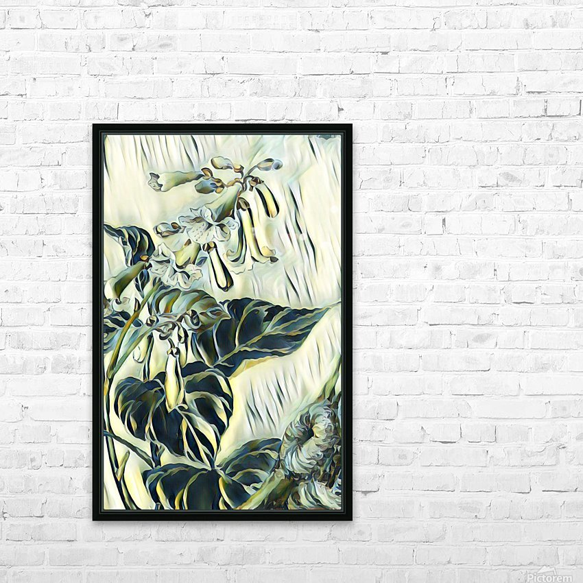 Flower_Lily HD Sublimation Metal print with Decorating Float Frame (BOX)