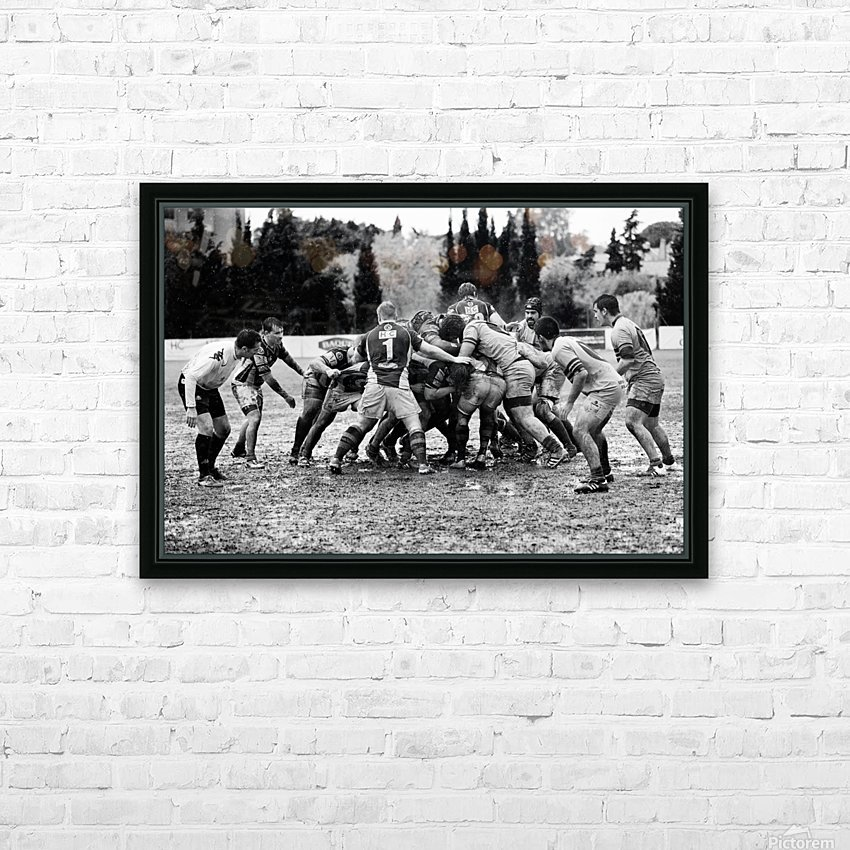 Rugby Mêlée HD Sublimation Metal print with Decorating Float Frame (BOX)