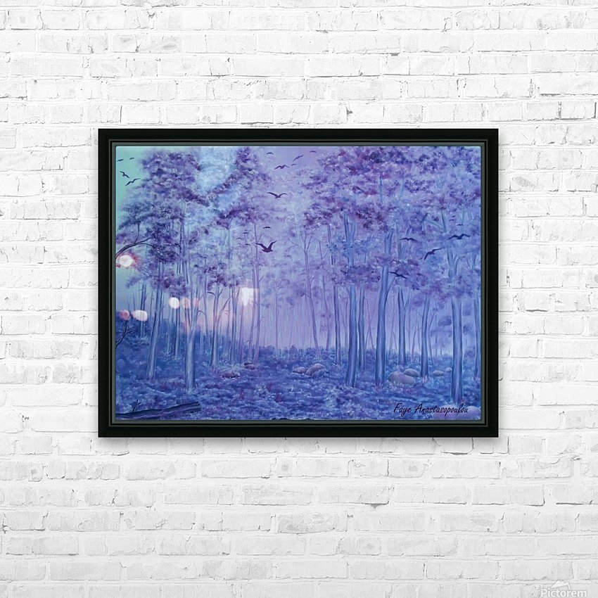 Lavender Woods HD Sublimation Metal print with Decorating Float Frame (BOX)