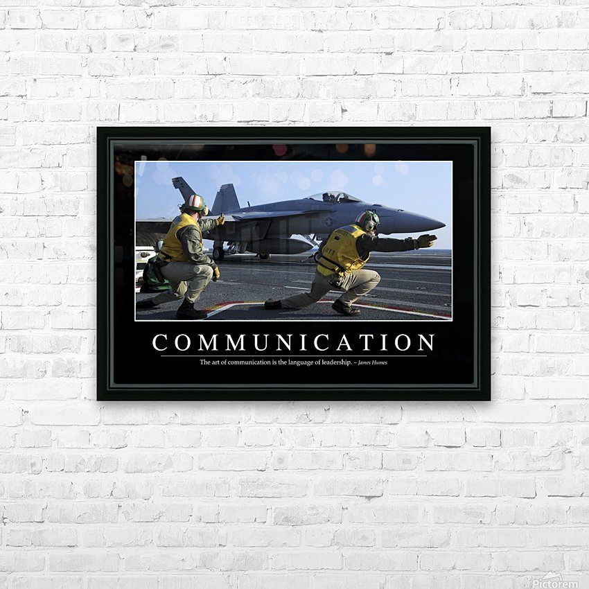 Communication: Inspirational Quote and Motivational Poster HD Sublimation Metal print with Decorating Float Frame (BOX)