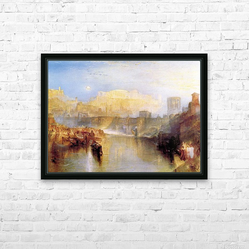 Ancient Rome; Agrippina lands with the ashes of Germanicus by Joseph Mallord Turner HD Sublimation Metal print with Decorating Float Frame (BOX)