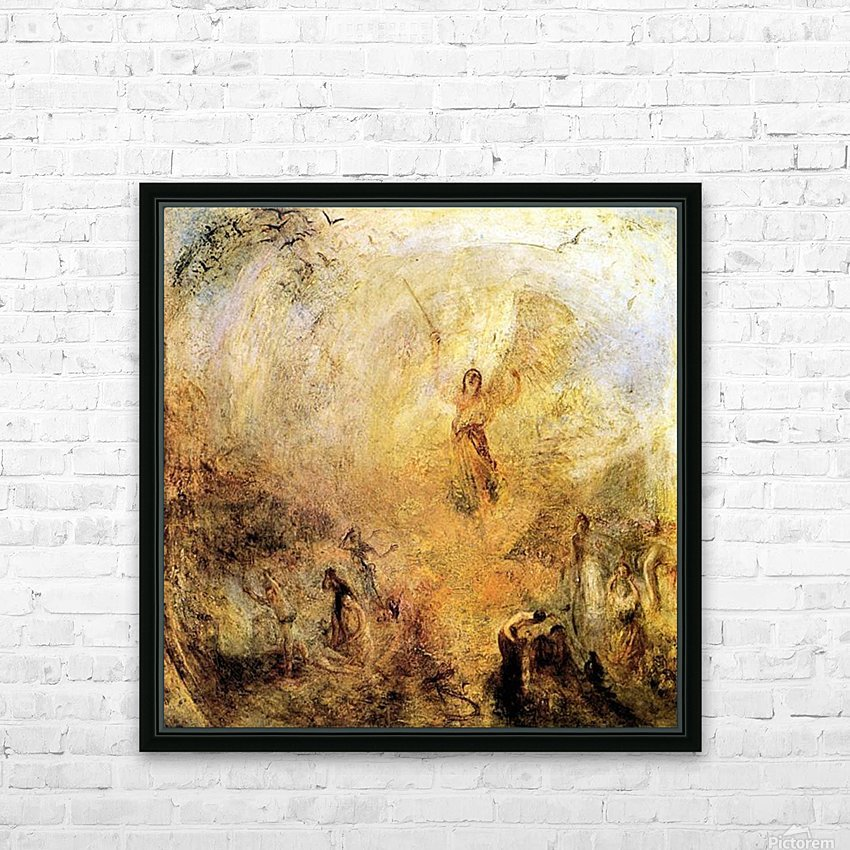 Angel in the sun by Joseph Mallord Turner HD Sublimation Metal print with Decorating Float Frame (BOX)