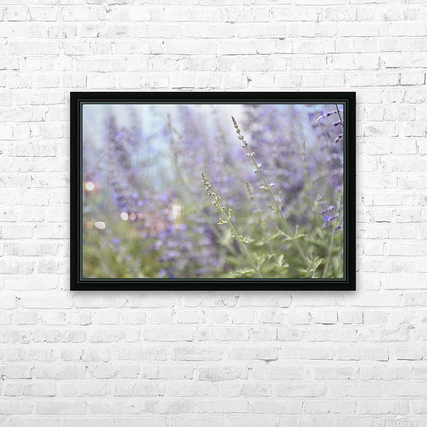 Soft Blue Spring Blossoms Photograph HD Sublimation Metal print with Decorating Float Frame (BOX)