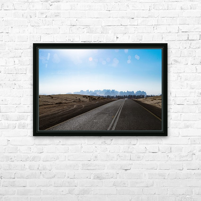 Road Trip HD Sublimation Metal print with Decorating Float Frame (BOX)