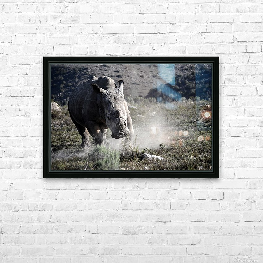Rhino HD Sublimation Metal print with Decorating Float Frame (BOX)