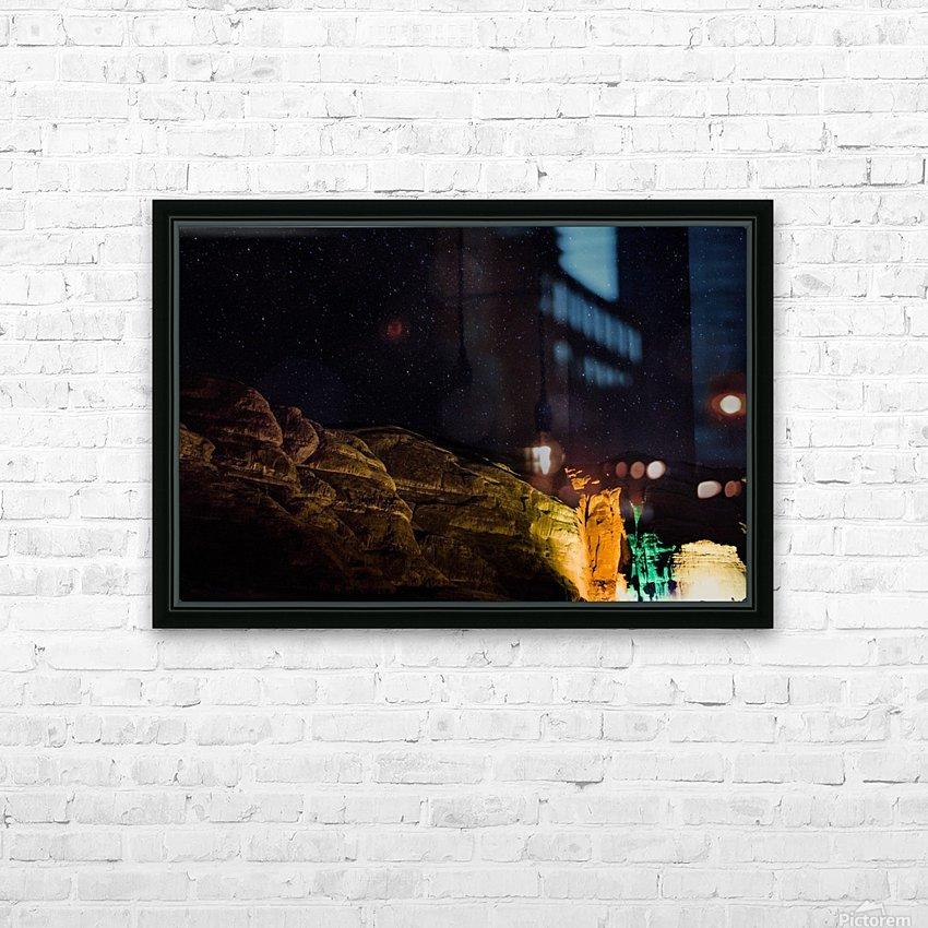 Starry Night - Al-Ula Monuments Saudi Arabia HD Sublimation Metal print with Decorating Float Frame (BOX)