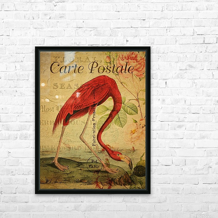 Beautiful Flamingo_OSG HD Sublimation Metal print with Decorating Float Frame (BOX)