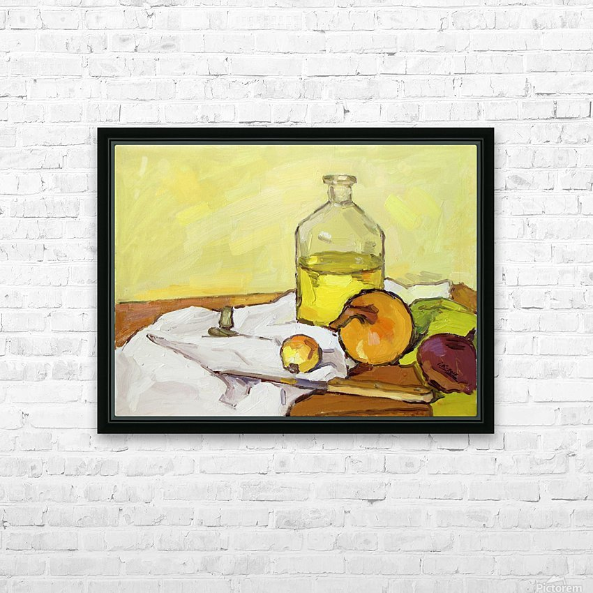 Still Life with Onion-2 HD Sublimation Metal print with Decorating Float Frame (BOX)