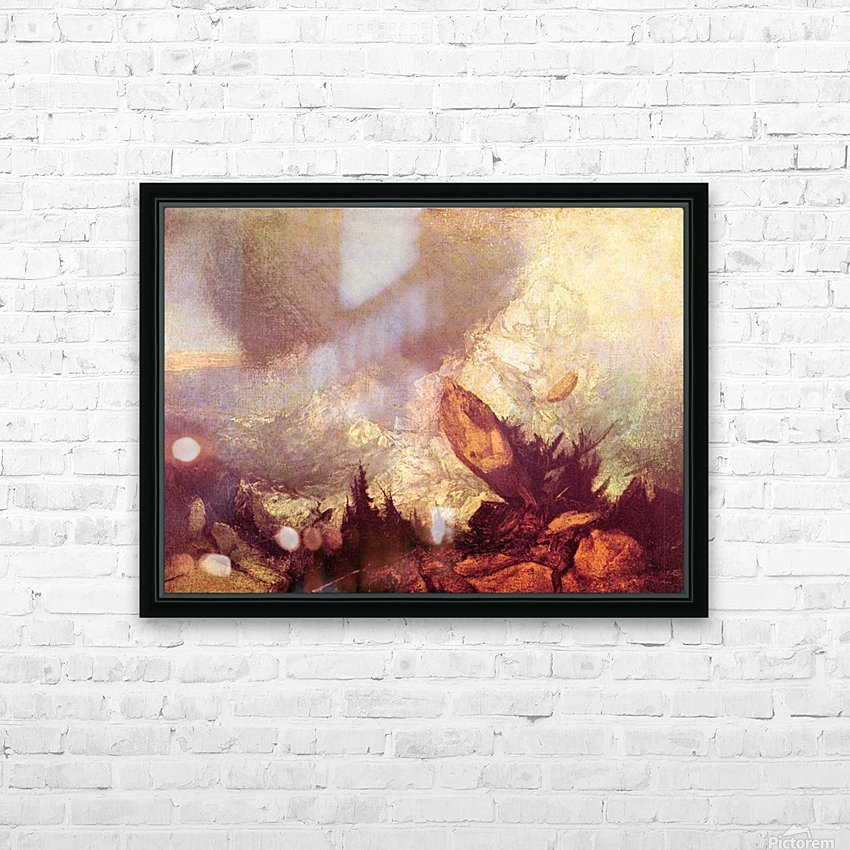 Avalanche by Joseph Mallord Turner HD Sublimation Metal print with Decorating Float Frame (BOX)