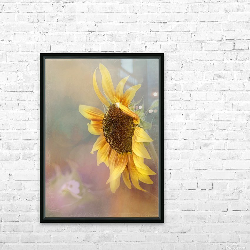 Be The Sunflower - Sunflower Art by Jordan Blackstone HD Sublimation Metal print with Decorating Float Frame (BOX)