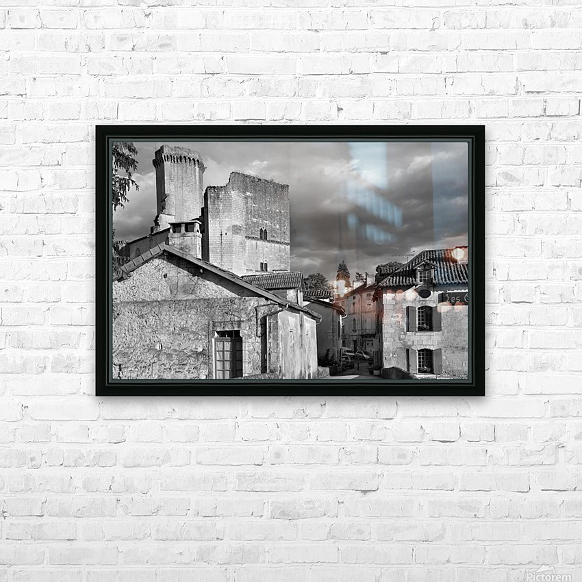 Bourdeilles Dordogne SW France HD Sublimation Metal print with Decorating Float Frame (BOX)