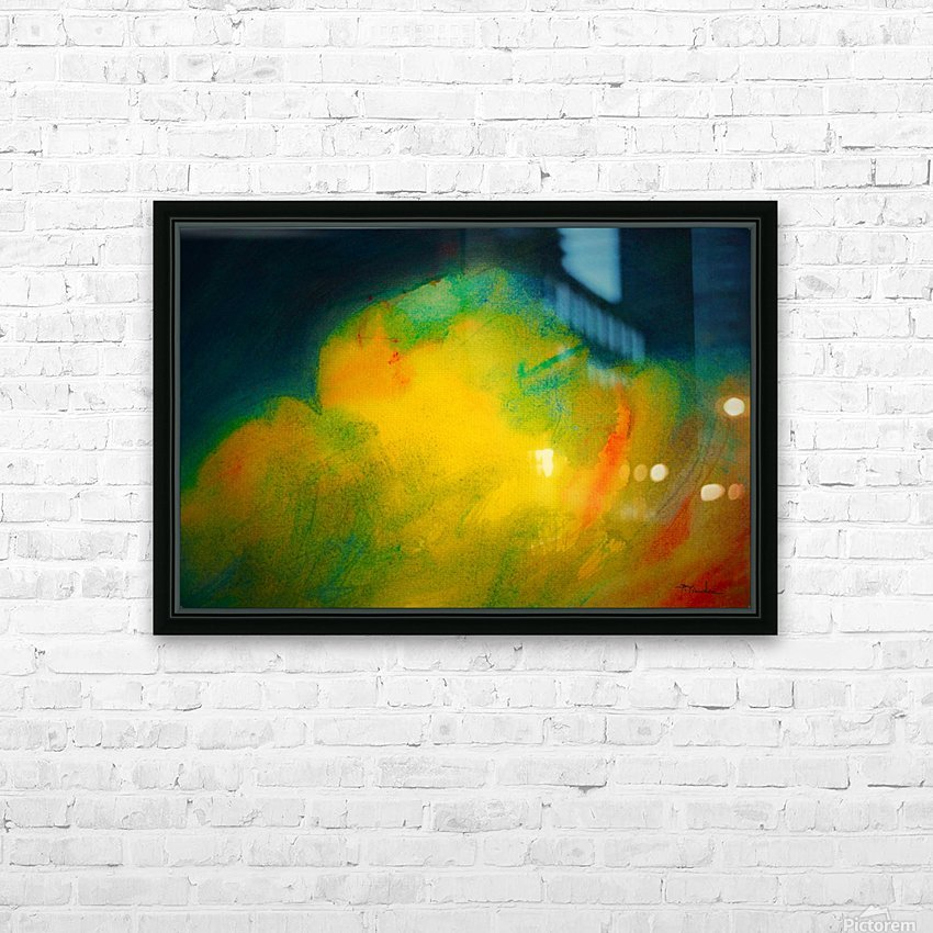 Colorful clouds HD Sublimation Metal print with Decorating Float Frame (BOX)
