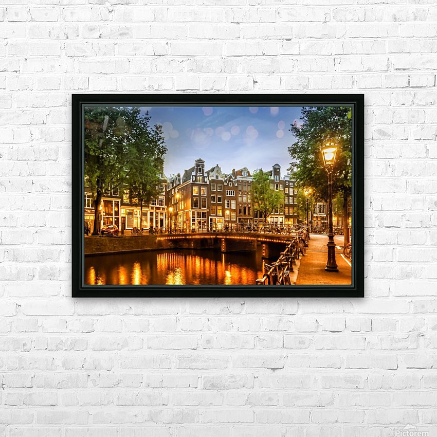 AMSTERDAM Idyllic impression from Singel HD Sublimation Metal print with Decorating Float Frame (BOX)