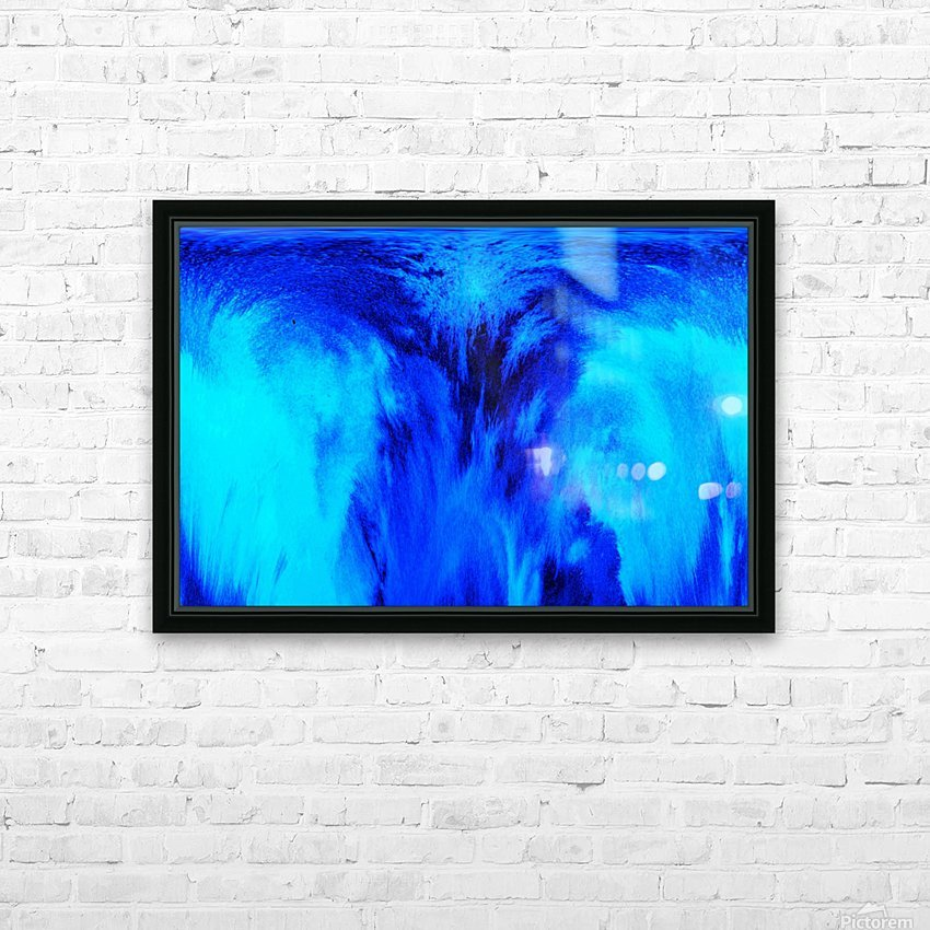 Abstract blue HD Sublimation Metal print with Decorating Float Frame (BOX)