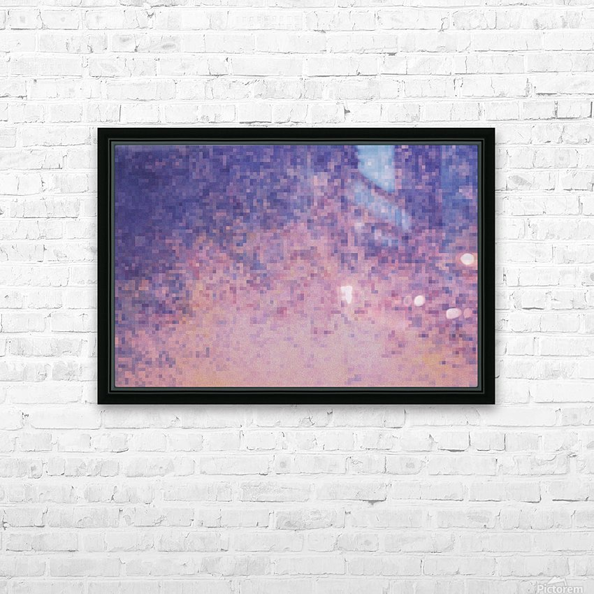 Dream violet HD Sublimation Metal print with Decorating Float Frame (BOX)