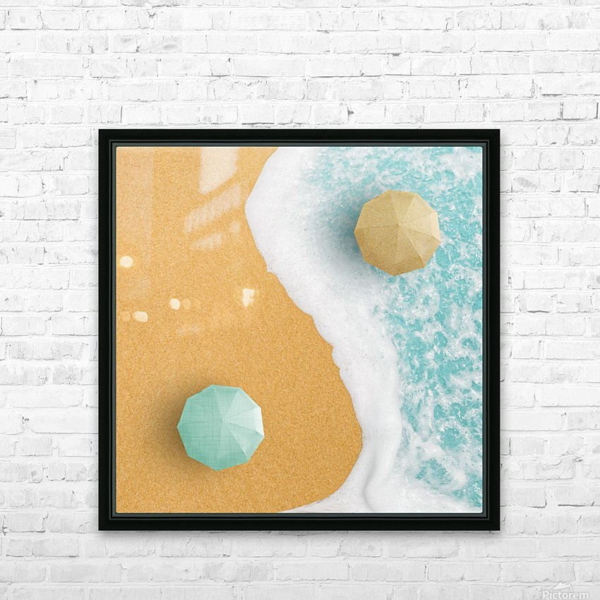 Yin and Yang. HD Sublimation Metal print with Decorating Float Frame (BOX)