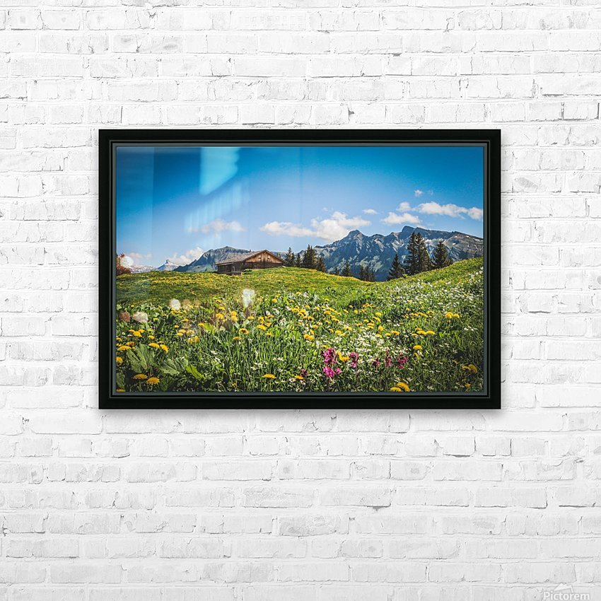 The Hills Are Alive HD Sublimation Metal print with Decorating Float Frame (BOX)