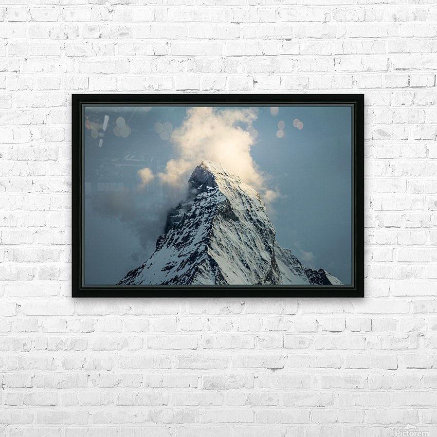 Matterhorn Glow Blue HD Sublimation Metal print with Decorating Float Frame (BOX)