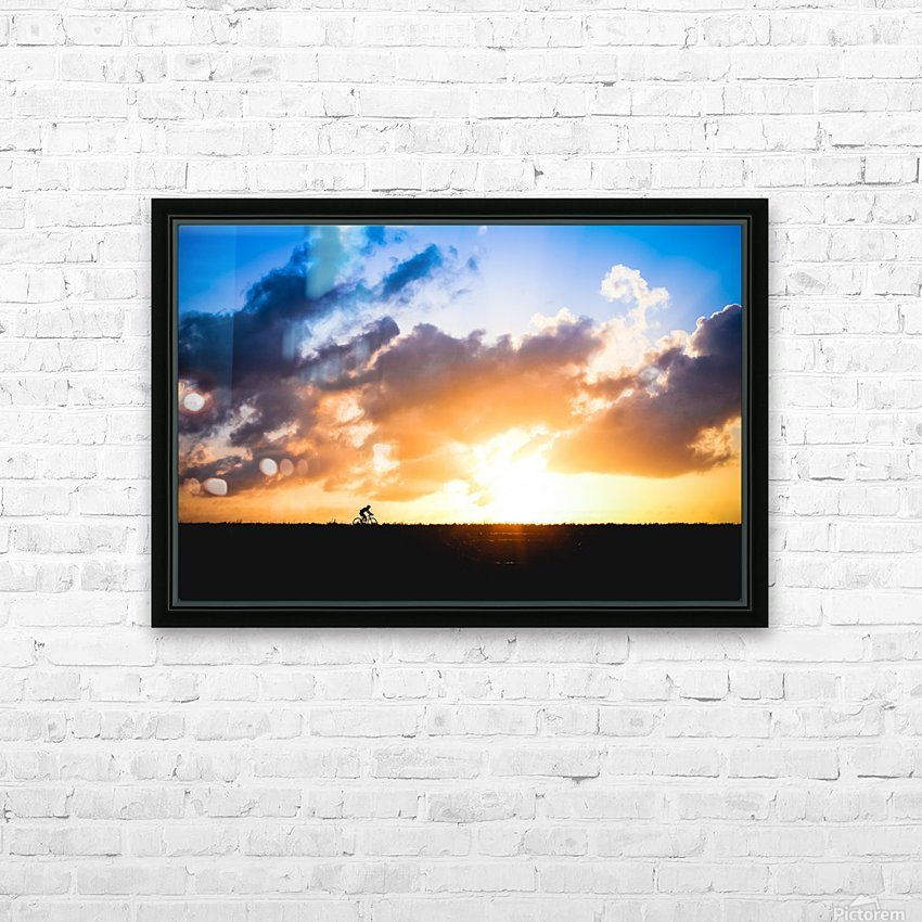 Sunset rider HD Sublimation Metal print with Decorating Float Frame (BOX)