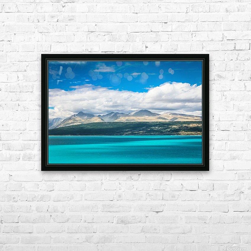Lake Pukaki HD Sublimation Metal print with Decorating Float Frame (BOX)