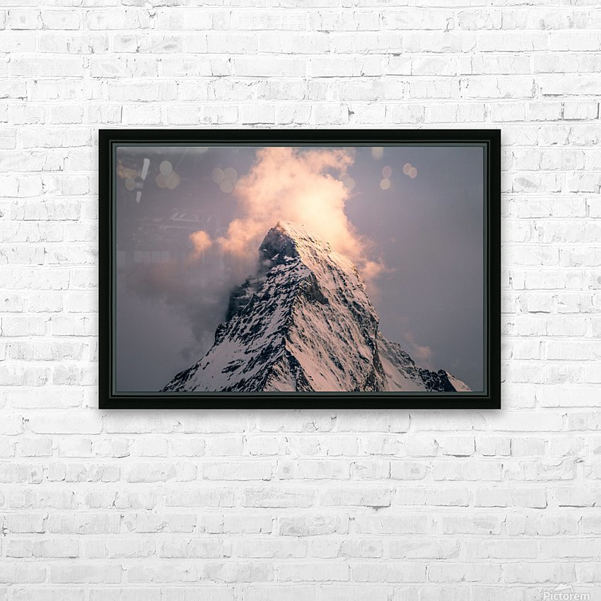 Matterhorn Glow HD Sublimation Metal print with Decorating Float Frame (BOX)