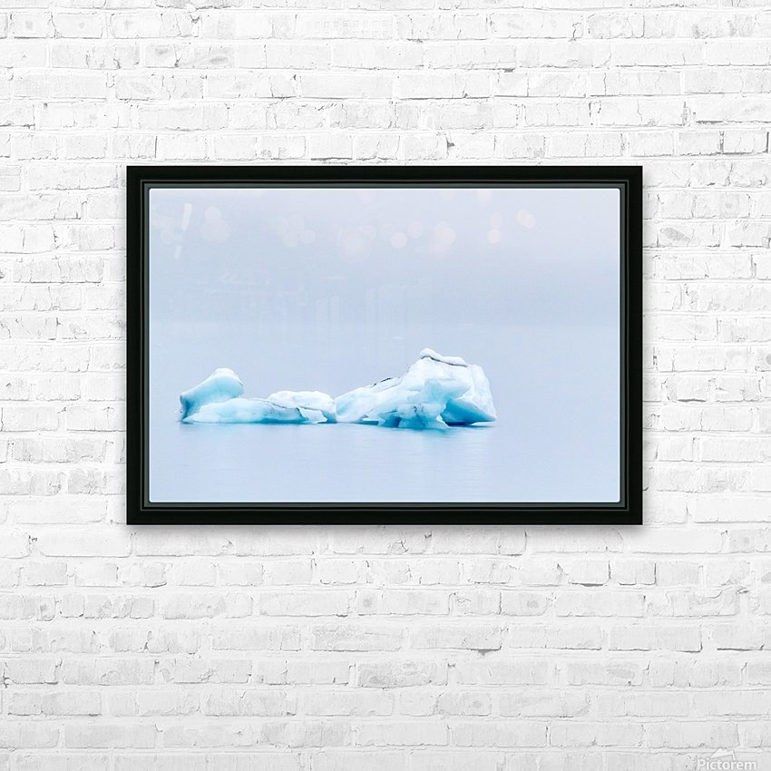 Iceberg Images - Alaska HD Sublimation Metal print with Decorating Float Frame (BOX)
