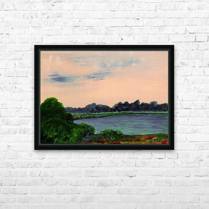 Evening Landscape HD Sublimation Metal print with Decorating Float Frame (BOX)