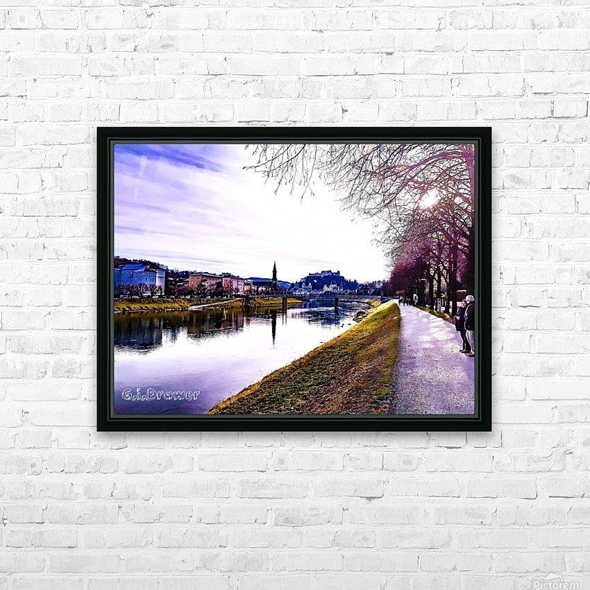 Nostalgie en couleur  HD Sublimation Metal print with Decorating Float Frame (BOX)