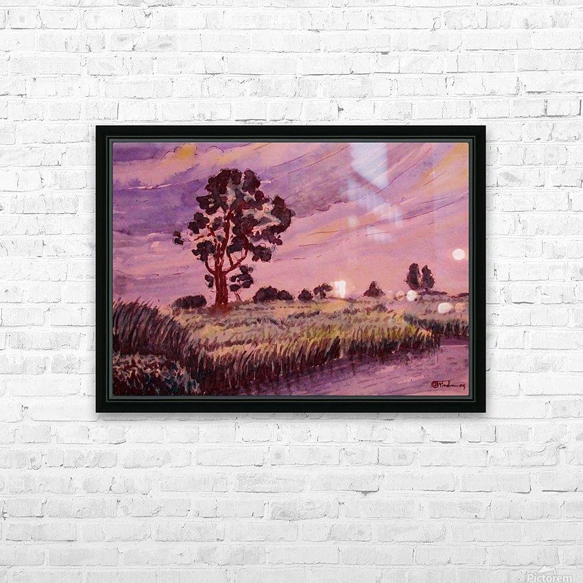 Evening Landscape 2 HD Sublimation Metal print with Decorating Float Frame (BOX)