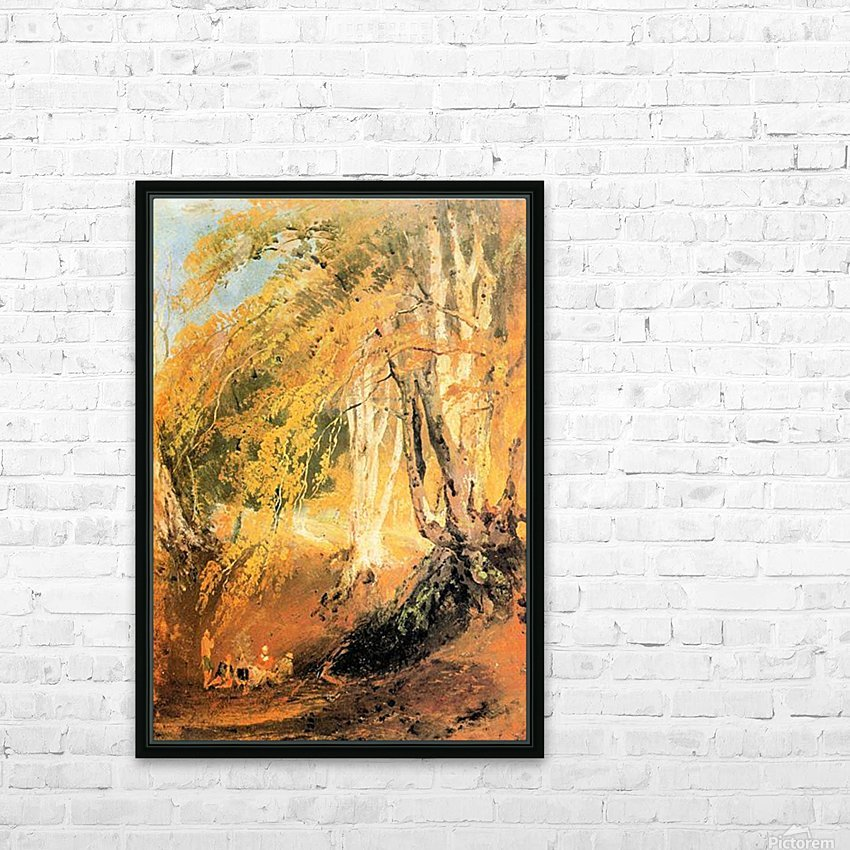 Beech woods with Gypsies 2 by Joseph Mallord Turner HD Sublimation Metal print with Decorating Float Frame (BOX)