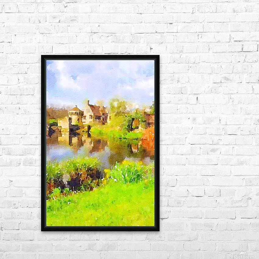 Scotney Castle HD Sublimation Metal print with Decorating Float Frame (BOX)