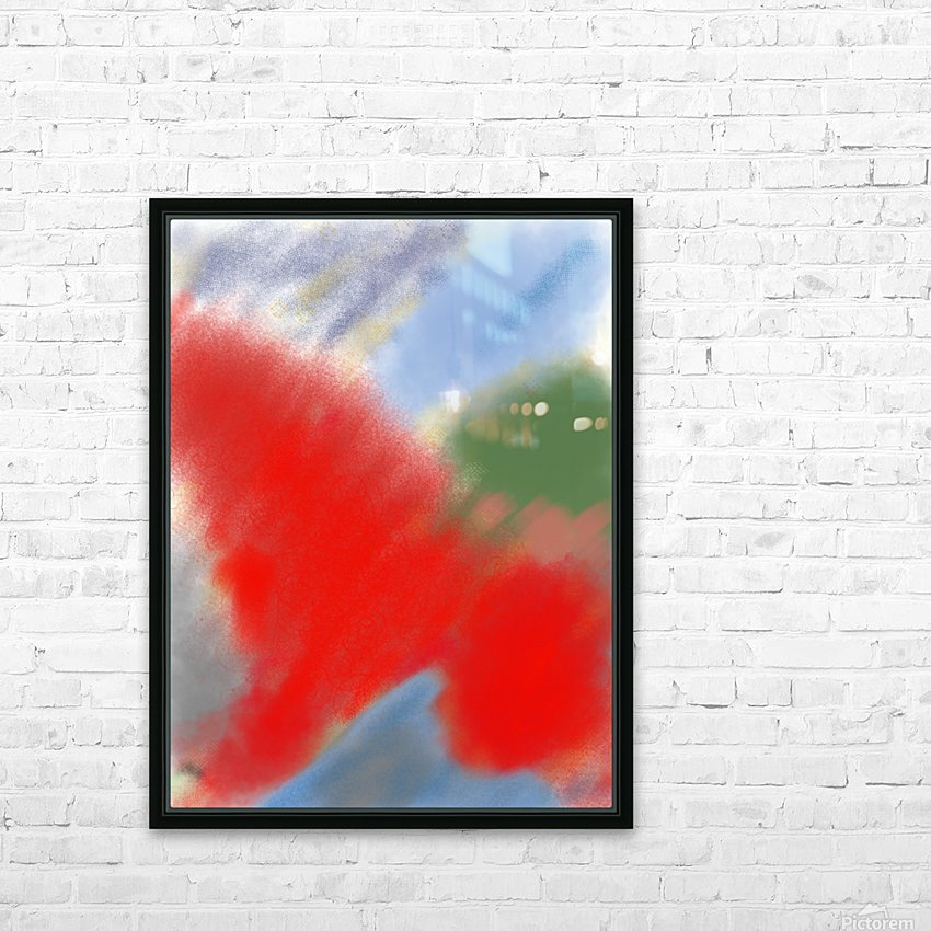 Abstract-red flame HD Sublimation Metal print with Decorating Float Frame (BOX)