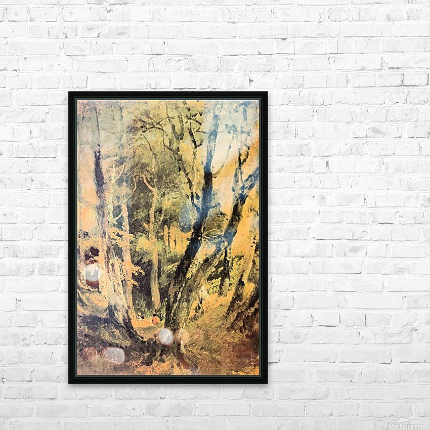 Birch woods with Gypsies by Joseph Mallord Turner HD Sublimation Metal print with Decorating Float Frame (BOX)